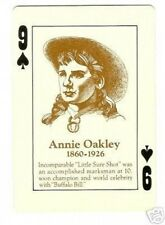 Annie Oakley  - Old West Playing Card  Look!