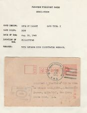 Japan Fieldpost Gunji Yubin APO Censored Postal Card to Costa Rica 1945