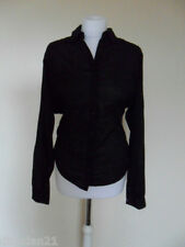 Womens DKNY top/shirt, size S (8-10), black, long sleeve, brand new