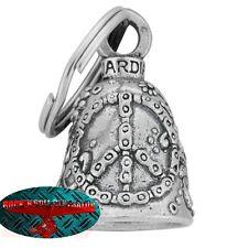 Biker Motorrad Guardian Bell Glocke Glücksbringer - PEACE USA Key Ring Anhänger