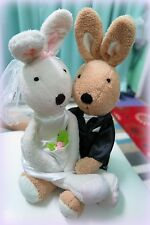 Brand new Le sucre rabbit wedding dress bunny stuffed plush toy, good gift