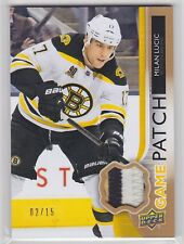 2014 14-15 Upper Deck UD Game Jerseys Patches #GJLU Milan Lucic 2/15