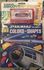 Star Wars COLORS AND SHAPES Buena Vista Read Along SEALED Tape & BooK 1983