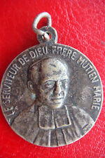 """Antique""""Sign of faith"""" Saint Mutien-Marie Wiaux, Singned Silvered Bronze Medal"""