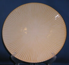 Royal Norfolk Dinner Plate(s) Tan Ribs Ridges With Brown Trim