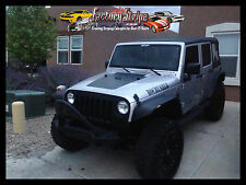 JEEP WRANGLER JK BLACKOUT HOOD GRAPHIC  FACTORY STRIPE 2007 2013