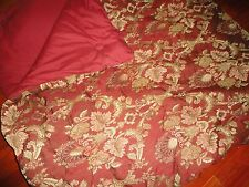 CROSCILL RED GOLD FLORAL JACOBEAN FULL/QUEEN HEAVY COMFORTER 92 X 96