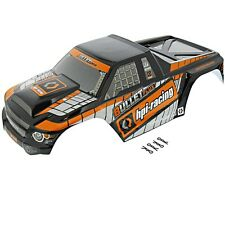 HPI 1/10 Bullet MT ST Flux * BLACK & ORANGE MT BODY SHELL & CLIPS *Painted Cover