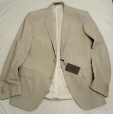 Men's CALVIN KLEIN Khaki Twill Blazer Suit Jacket Luxury New Size 36 Bargain Buy