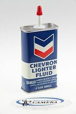 Vintage Chevron 4oz Lighter Fluid Tin Handy Oiler Denver, CO Unopened EXC COND!