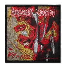 """Malevolent Creation: The Will to Kill"" Metal Album Art Sew On Applique Patch"