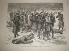Russia Turkey war Russian prisoners on the march 1878 old print