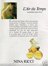 Publicité advertising 1986 Parfum Eau de Toilette L'Air du Temps Nina Ricci