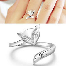 1x Fashion Silver Plated Lady Finger Rings Opening Adjustable Fox Ring Jewelry