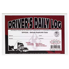 10-PACK JJ Keller Driver's Daily Log Book 601LD WITH DVIR & MONTHLY LOG SUMMARY