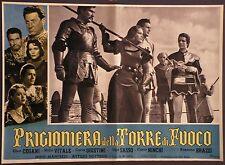 Fotobusta PRIGIONIERA DELLA TORRE DI FUOCO 1952 NINO MANFREDI, ROSSANO BRAZZI