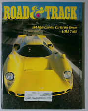 1984 JULY ROAD & TRACK VINTAGE CAR MAGAZINE LOLA T-165 CAN-AM