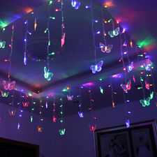 12Ft Crystal ButterFly LED Fairy String Series Light Diwali Home Decor