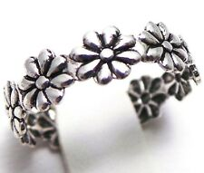 NEW Sterling Silver 925 Daisy Flower Toe Ring Tiara Style Design Toes Foot Feet