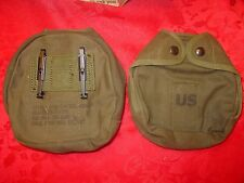 1 USGI MILITARY ARCTIC CANTEEN COVER CANVAS w/ KEEPERS NEW OLD STOCK FREE S&H