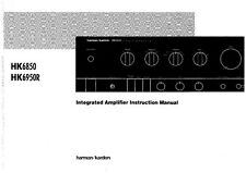 Harman Kardon HK6850 HK6950R Receiver Owners Manual