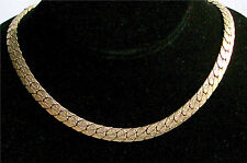 "Gold Tone Rare Reversible Necklace ""EMBRACEABLE"" Sarah Coventry Jewelry - Vtg"