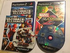 PLAYSTATION 2 PS2 GAMES Marvel Vs. Capcom 2 BOXED ULTIMATE ALLIANCE COMPLETE PAL