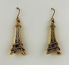 Antiqued Gold Eiffel Tower dangle earrings