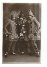 BM859 Carte Photo vintage card RPPC Femme Groupe jeune fille déguisement carnava