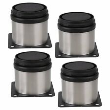 4Pcs Furniture Cabinet Metal Legs Adjustable Stainless Steel Kitchen Feet
