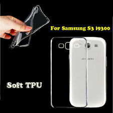 Ultra Thin Soft TPU Gel Clear Transparent Case Cover For Samsung Galaxy S3 i9300