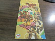 ESSO - VINTAGE MAP OF ONTARIO CANADA - 1971