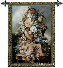 """Summer Of Peace Floral Tapestry Flowers In Vase Picture 76""""x53"""""""