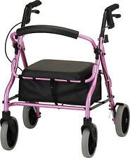 Nova Zoom Pink Rolling Walker rollator free shipping