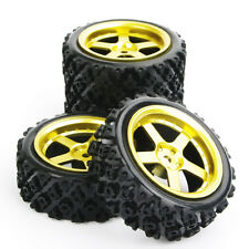 4x Rally Racing Tyre 1/10 RC Off Road Car Vehicle Tyres Wheel Rim D5G+ PP0487