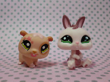 Littlest Pet Shop LPS #1341 #1466 PINK BUNNY CONIGLIO NANO CRICETO & Tan Star
