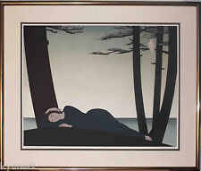Listed American Artist Will R. BARNET, Signed Large Original Lithograph,1982