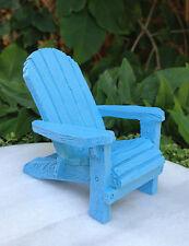 Miniature Dollhouse FAIRY GARDEN ~ Sea BEACH Lake Blue Resin Adirondack Chair