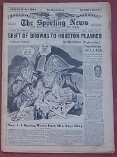 NOVEMBER 15, 1950 SPORTING NEWS BASEBALL  PITTSBURGH PIRATES WILLARD MULLIN ART