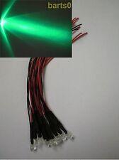 20X 5mm GRÜNE GRÜN LED 24.000mcd fertig auf 12 Volt mit 15cm Kabel  LEDS