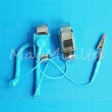 ESD Adjustable metal Wrist Strap Band NEW BLUE Anti Static Antistatic LZ