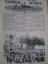 French President embarkation at Marseille France 1852 old print