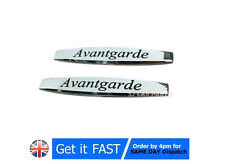 2x Mercedes Avantgarde Badge Emblem Metal Chrome Logo Sticker Rear Trunk S152