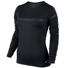 New NIKE Elite Top Size L (UK 16-18)/ MIDLAYER CREW WOMEN'S RUNNING/ reflective