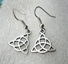 Viking Celtic Knot Ornate Charm Christian Earrings Insular Art
