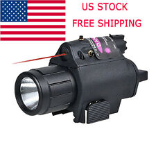Tactical Red Laser Sight LED Flash Light Combo - rifle shotgun 20mm Rail NS