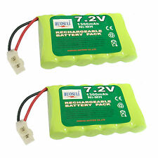 2 pcs 7.2V 1300mAh NiMH Rechargeable Battery Pack Tamiya Plug For RC US Stock