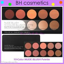 NEW BH Cosmetics 10-Color NUDE BLUSH Palette w/Case FREE SHIPPING Face Powder