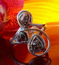 Ring Sterling Silber 925 Stein goldener Pyrit aus Peru Katzengold Inkastein