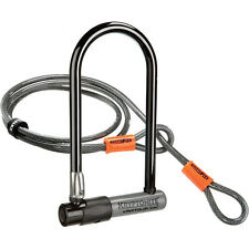 Kryptonite KryptoLok Series 2 Standard Bike U-Lock w/ 4 Ft. Flex Cable & Bracket